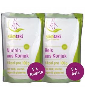Slimtaki - 5 x BIO Konjak Reis & 5 x BIO Konjak Nudeln (à 200g)