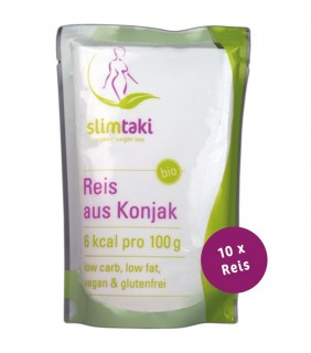 Slimtaki - 10 x BIO Konjak Reis (à 200g)