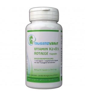 Vitamin K2 + D3 + Rotalge Kapseln