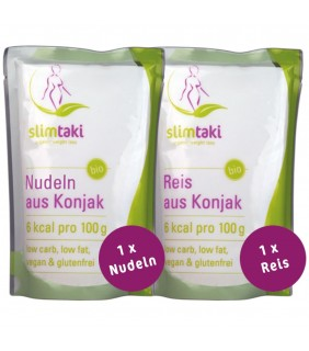 Slimtaki - 1 x BIO Konjak Reis & 1 x BIO Konjak Nudeln (à 200g)