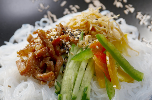 Konjaknudeln und Reis